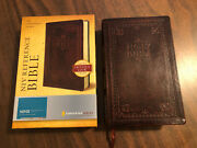 Niv 1984 Reference Bible - Brown Antique Duotone - Oop 84