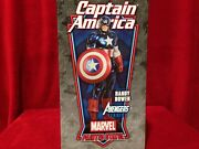 Captain America Avengers Version Statue Signed And Sketched By Bowen Rare Mib