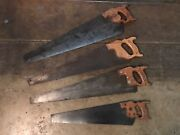 Antique Saw Lot Disston And Son Warrented Superior E C Atkins And Co Saws Wood 1800s