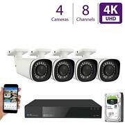 4 4k 8mp 5x Motorized Zoom Ip Microphone 1tb Nvr Poe Security Camera System