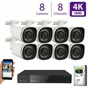 8 4k 8mp 5x Motorized Zoom Ip Microphone 2tb Nvr Poe Security Camera System