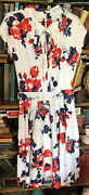 1960s Mid Century Floral Summer Dress By Sears Small