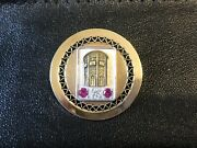 Vintage 12k Gold Carson Pirie Scott Award Pin With Diamond And Pink Stones