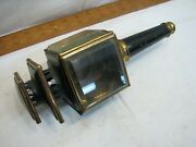 Antique Beveled Glass Driving Coach Lantern Buggy Lamp Carriage Auto Light 1875