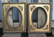 Lot Of 2 Vintage Gilt Wood And Gesso Picture Frames