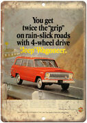 Jeep Wagoneer Kaiser Jeep Corporation Ad 12 X 9 Retro Look Metal Sign A91