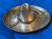 Large - 8 Inch Sanborn Mexico Sterling Silver Sombrero