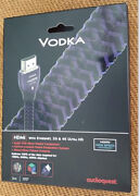 Audioquest Vodka Hdmi Cable Newest Version 3d And 4k Ultra Hd 2m Length New