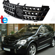 Front Bumper Grille 3fin Grill For Mercedes Benz Ml Class W164 Ml320 Ml350 Ml550