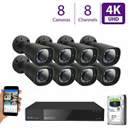 8ch Audio And Video Security System 8 X 4k 3x Motorized Zoom Microphone Camera 8tb