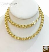 10k Yellow Gold Byzantine Chino Chain Necklace In 22 24 26 28 Inch Lobster Lock