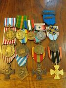 Ww1 And Wwii French Service And Campagne Medals 14 Medals
