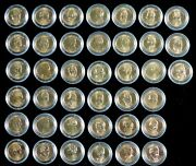 Gold Presidential Dollar Set 39 Coins Mint New Uncirculated In Capsules