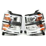 Headlight For 2015 Chevrolet Silverado 3500 Hd Left And Right Pair