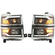 Headlight For 2015 Chevrolet Silverado 2500 Hd Left And Right Pair