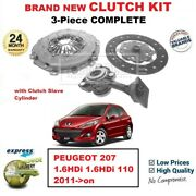 For Peugeot 207 1.6hdi 1.6hdi 110 2011-on Brand New 3-piece Clutch Kit And Csc