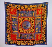 New Hermes Musique Des Dieux Print 100 Silk Twill Scarf With Box Ultra Rare