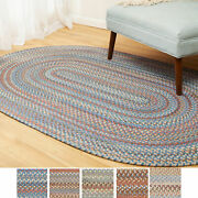Cherry Hill Wool Braided Rug For Home Decor | Reversible | Made In The Usa
