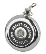 Harley-davidson Air Cleaner Style 8 Oz Stainless Steel Round Flask Hdx-98506