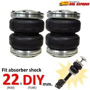 2universal Air Bags Sleeve Fit Shock Absorber Rod 22mm Ride Suspension Lower Car
