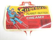 Superman Creamy Peanut Butter Label Only 1981