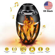 Portable Wireless Bluetooth Speaker Waterproof Outdoor Bass With Led Flame Light