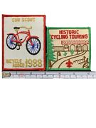 Boy Scout Cub Scout Badges Patches 1988 Bicycle Rodeo / Historic Cycling Touring