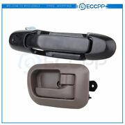 2pcs Front Right Brown Interior And Exterior Fits Toyota Sienna 98-03 Door Handles