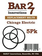 5 Pack Replacement Drive Belt Chicago Electric Rock Tumbler Brass Polishing