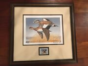 Ducks Unlimited Maynard Reese Autographed Print With Stamp Limited Edition