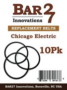 10 Pack Replacement Drive Belt Chicago Electric Rock Tumbler Brass Polishing