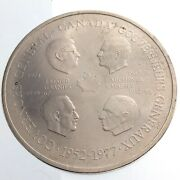 1952-1977 Canada Governors General 25 Years God Save Queen Medallion Medal P014