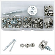 20pcs/set Boat Cover Press Stud Snap Fasteners Screw Canvas Canopy Stainless Cf