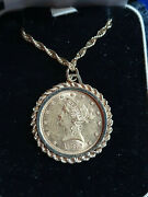 1882-s 10 Liberty Gold Eagle Coin W 14k Bezel And Gold 24 Rope Necklace 29.5 G
