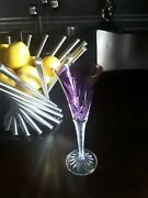 Beautiful Waterford Lismore Amythest Purple Toasting Champagne Flute Glass