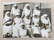 Wwi Tankerton Military Hospital Whitstable 1920 Photograph Of Departing Nurses