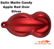 Satin Flat Candy Apple Red Over Silver Basecoat Tri-coat Gallon Auto Paint Kit