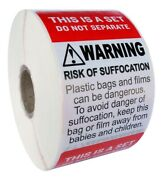 Fba Combo This Is A Set Do Not Separate/suffocation Warning 33 Rls/16500 Labels
