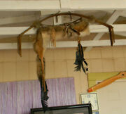 L@@k Handmade Coyote Hide Taxidermy Native America Bow And Arrow Hunting Quiver