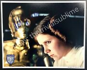 Carrie Fisher Official Pix / Opx Autograph Star Wars Princess Leia Signed