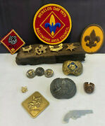 Boy Scouts Of America Bsa Patches Neckerchief Holders Pins Medallion Lot