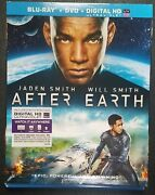 After Earth Blu-ray, Dvd, Digital Slipcover - Jaden Smith And Will Smith