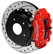 Wilwood Disc Brake Kit,rear,chevy C-10 Truck,13 Drilled Rotors,red Calipers