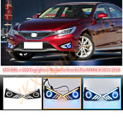 Led Fog Lamps Clear Lens And Led Drl Daylights For O Toyota Reiz / Mark X 201318