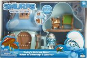 Smurfs The Lost Village Mushroom House Playset With Brainy Smurf Figure Giftwrap