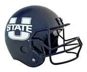 Utah State University Football Helmet Large Cremation Urn For Ashes 225 Cubic In