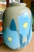 Early Mark Peiser Floral Art Glass Paperweight Vase 1973