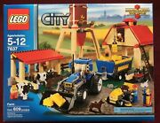 New Lego Farm 7637 With Cows Dairy Ranch Cattle Dog Cat Zoo Barn Mill Tractor