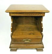 Ethan Allen Classic Manor Colonial Open Cabinet Nightstand 15-5206 Rare