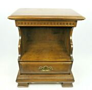 Rare Ethan Allen Classic Manor Colonial Open Cabinet Nightstand 15-5206